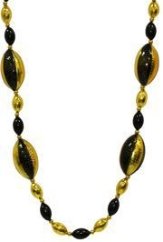 Black and Gold Football Beads