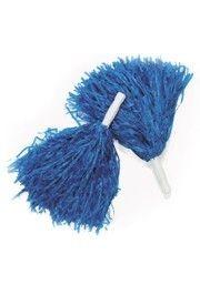 10in Plastic Royal Blue Pom Poms