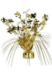 11in Tall x 8in Wide Spread Out Fleur-De-Lis Centerpiece