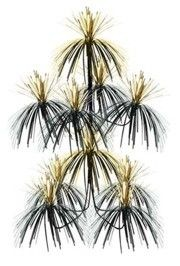 24in Tall x 13in Wide Black and Gold Chandelier