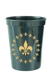 16oz Hard Plastic and Reusable Cups w/ Fleur-De-Lis