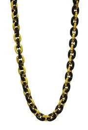 Black and Gold Link Necklace