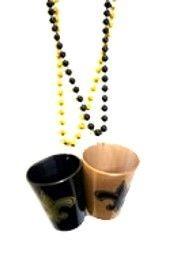 Fleur-De-Lis Shot Glass Beads