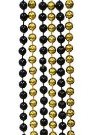 7mm 42in Black and Gold Beads