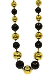 Black and Gold Graduated Ball Necklace