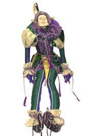 5ft Tall x 19in Wide Jumbo Mardi Gras Jester Doll