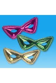 Eye Masks: Plastic Mardi Gras Cat Eye Masks