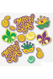 Mardi Gras Window Clings
