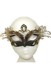 Papier Mache Masks: Black and Gold Venetian Mask