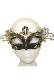 Papier Mache Masks: Black and Gold Venetian Mask