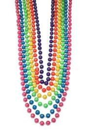 12mm 72in Assorted Opaque AB Beads