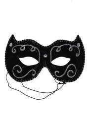 Eye Masquerade Masks: Black Venetian Mask