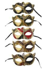Assorted Venetian Molded Acrylic Masquerade Mask With Musical Notes Design