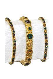Mardi Gras Rhinestone Bracelet