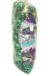 Mix of Assorted Styles and Colors Metallic Round and Shaped Beads