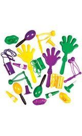 2in - 6in Assorted Plastic Mardi Gras Noisemakers