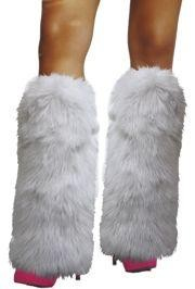 White Furry Leg Warmers