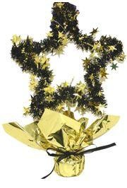 13in Black/ Gold Star Centerpiece