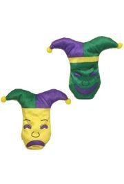 7in Long x 8in Wide Mardi Gras Comedy/ Tragedy Plush Face
