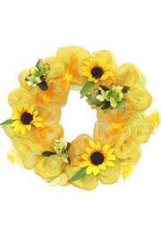 26in Summer Deco Mesh Ribbon Wreath