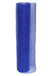 21in x 30ft Sinamay Metallic Blue Mesh Ribbon/ Netting