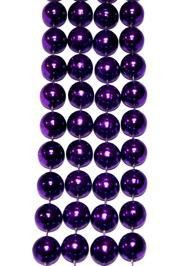 14mm 48in Metallic Purple Beads