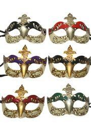 Venetian Masquerade Masks: Assorted Color Molded Acrylic Masks