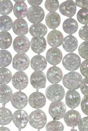 72in 12mm Clear AB  Rose Beads