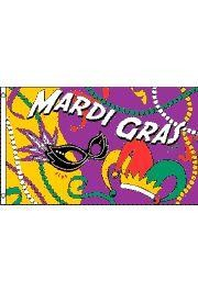 3ft x 5ft Polyester Mardi Gras Party Flag