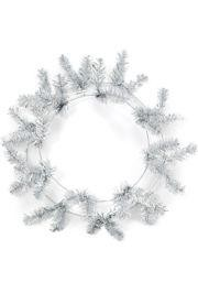 Metallic Silver Elevated Work Wreaths Form