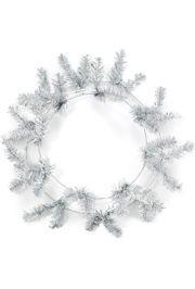 Metallic Silver Elevated Work Wreaths Form
