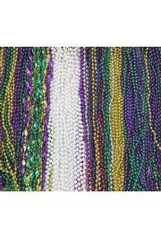 505 Pieces (42 Dz)Blow Out Mardi Gras Bead Mix in Zipper Bag