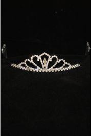 1.5in Tall Rhinestone Metal Tiara