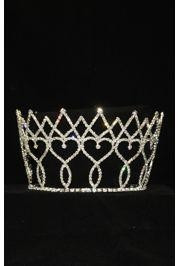 4in Tall Rhinestone Metal Crown