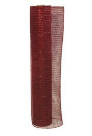 21in x 30ft Sinamay Metallic Burgundy Mesh Ribbon/ Netting