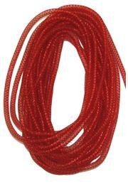 8mm x 15Yd Decor Metallic Mesh Tubing Red