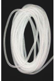 8mm x 15Yd Decor Metallic Mesh Tubing White