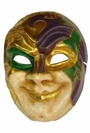 Paper Mache Mardi Gras Joker Big Mask