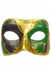 Mardi Gras Paper Mache Venetian Big Eye Mask