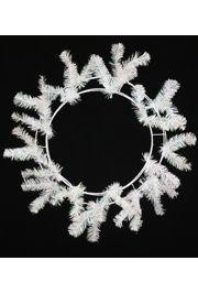 Iridescent White Elevated Work Wreath Form