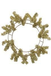 46 Tips Metallic Gold Elevated Work Wreath Form