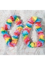36in Polyester Rainbow Carnation Leis