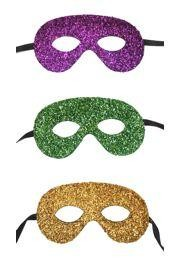 Eye Mask: Assorted Tinsel Mardi Gras