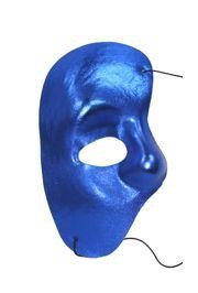 Half Masks: Blue Satin Phantom of the Opera