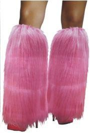 Neon Pink Furry Leg Warmers
