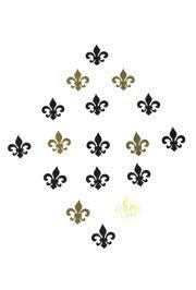 2 oz 3/4in x 3/4in Metallic Black and Gold Fleur-De-Lis Confetti
