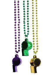 Mardi Gras Whistle Necklace