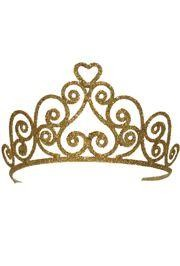 3in Tall Gold Glittered Tiara