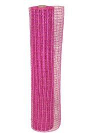 21in x 30ft Metallic Hot Pink Oasis Mesh Ribbon/ Netting