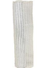 21in x 30ft Metallic White Oasis Mesh Ribbon/ Netting